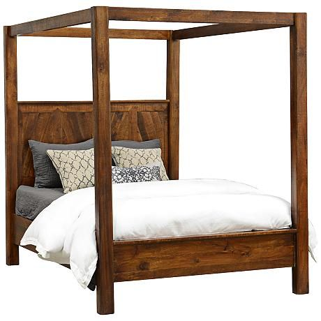 Bedroom Furniture Melbourne melbourne hand-crafted square plank wood queen canopy bed | my r