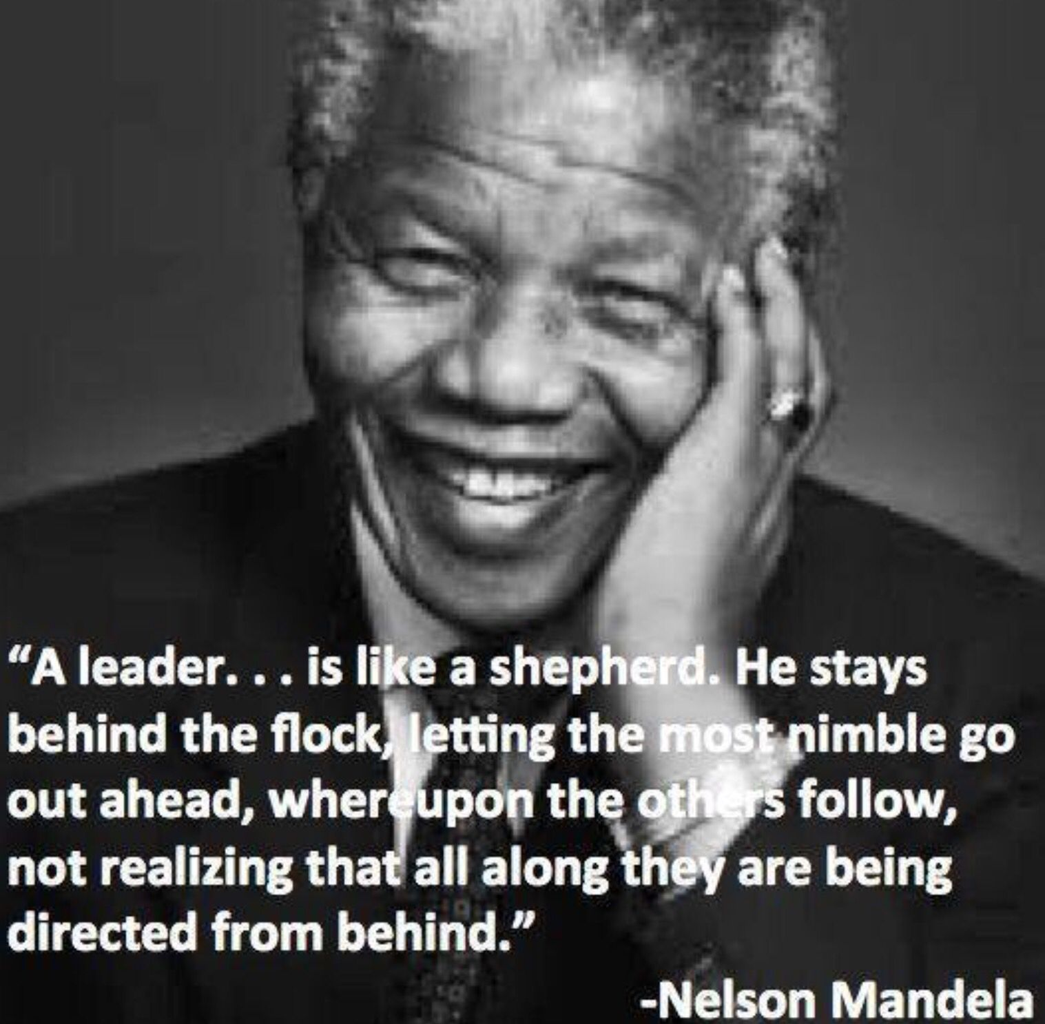 a leader is like a shepherd too true mandela quotes nelson