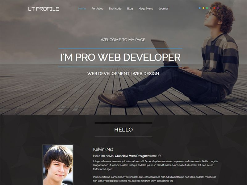 LT Profile is free responsive one page joomla template and - is a cv the same as a resume