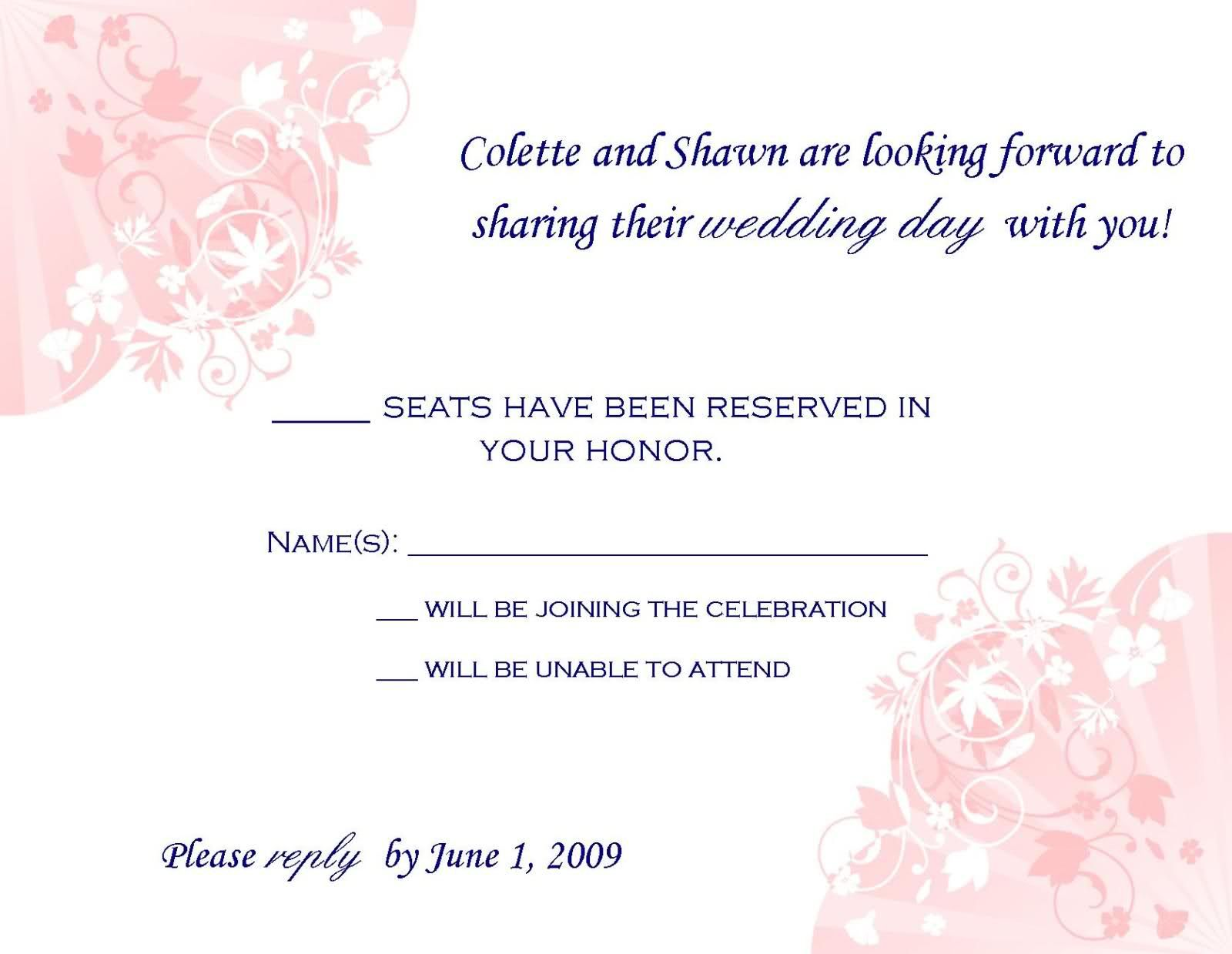 Rsvp wording rsvp cards wording wedding ideas pinterest rsvp wording rsvp cards wording stopboris Choice Image