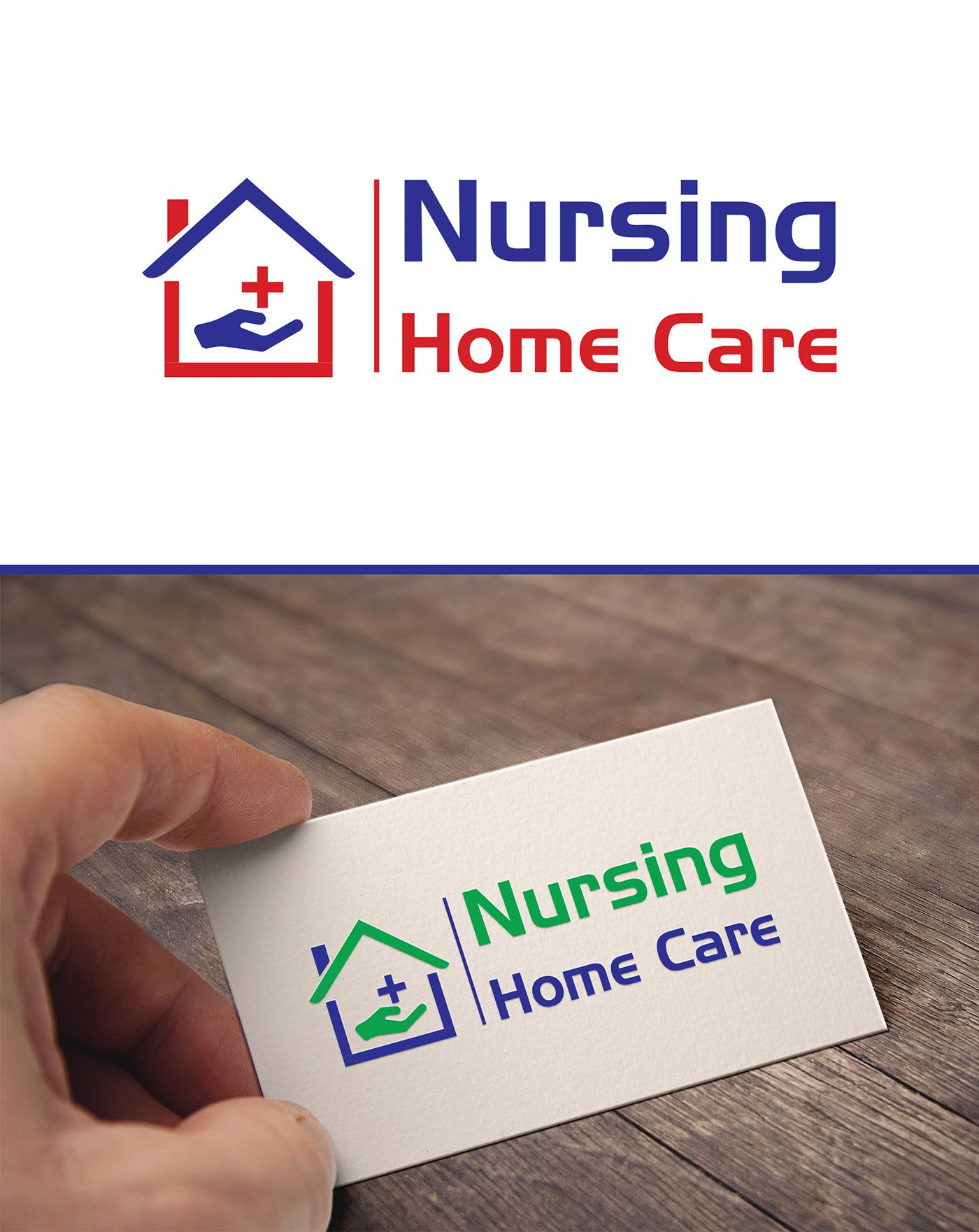 Decouvrez Ce Projet Behance Logo Design Nursing Home Care Https Www Behance Net Gallery 64544659 Log Nursing Home Care Nursing Home Home Health Care