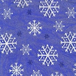 Michael Miller House Designer - Winter Frost - Glitter Snowfall in Amethyst
