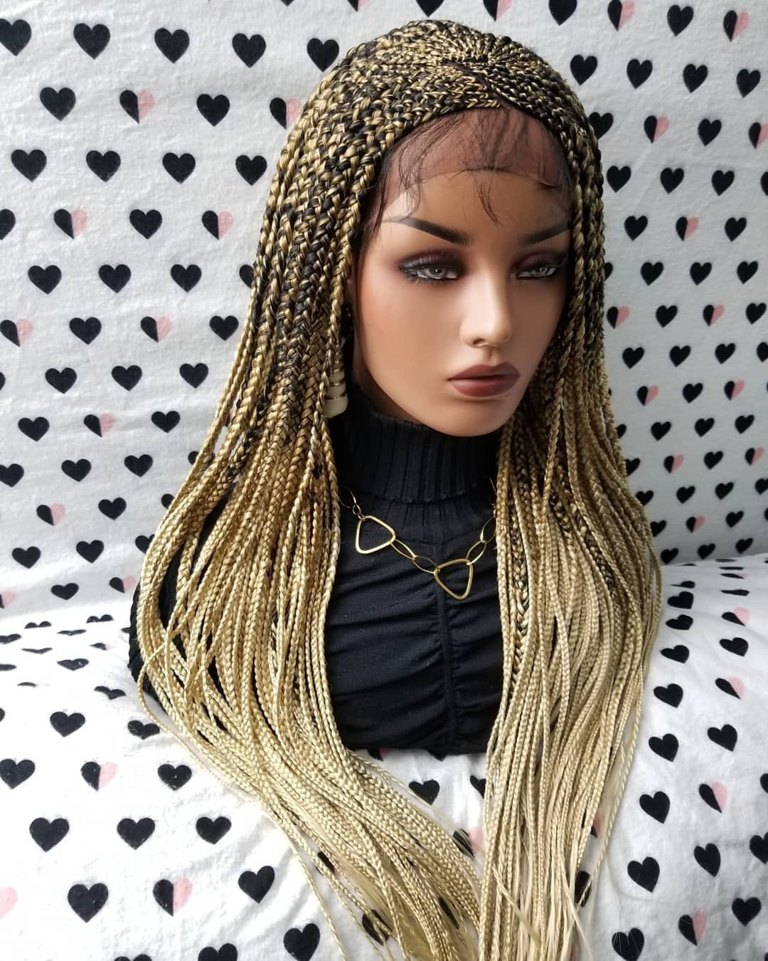 Cornrows Braided Lace Front Wig Color 1b/27/613