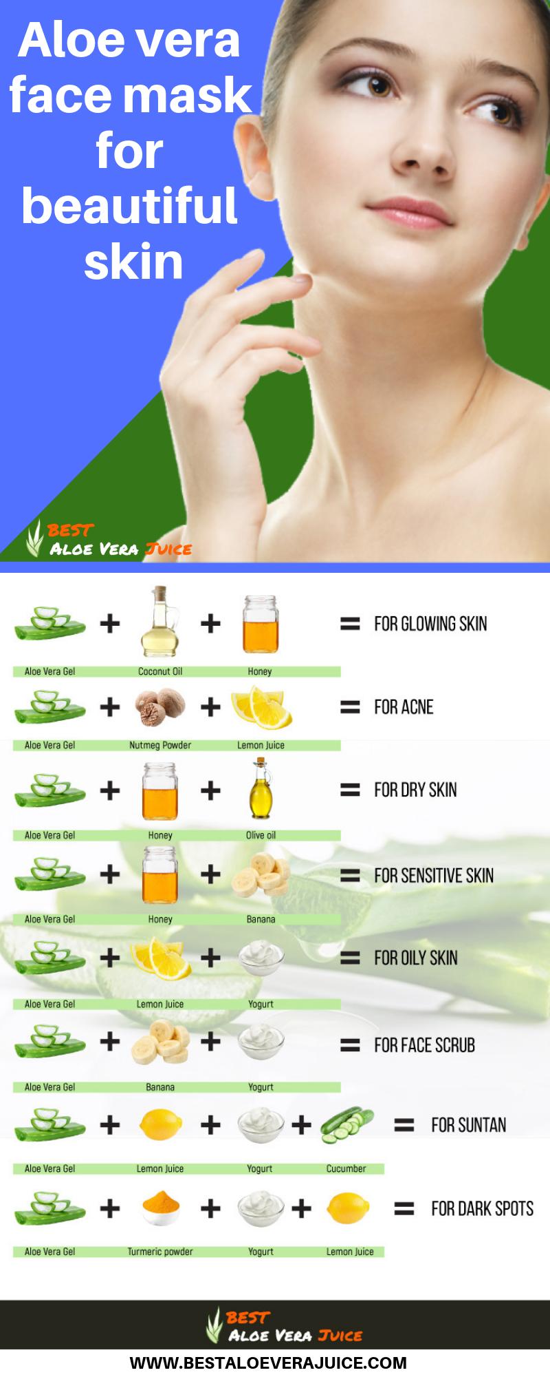 Aloe vera face mask for pores