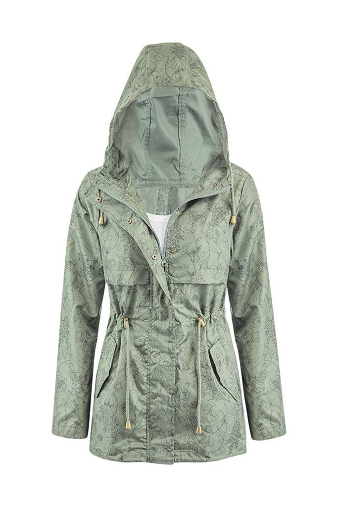 00b332dee Womens Printed Lightweight Fishtail Parka Rain Coat