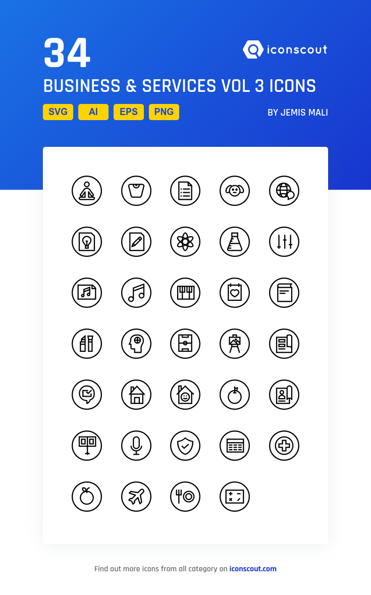 Download Business Services Vol 3 Icon Pack Available In Svg Png Eps Ai Icon Fonts Icon Pack Icon Font Icon