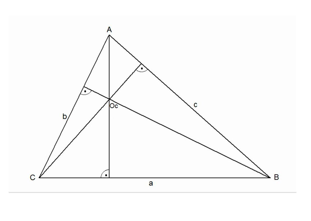 Ortocentro De Un Triángulo Técnicas De Dibujo Geometría Geometría Plana