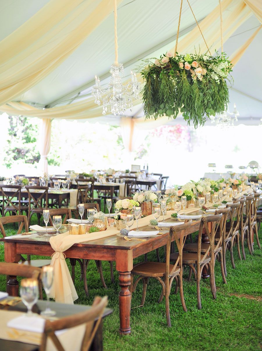 Goodwin Events' estate size farm table with crossback
