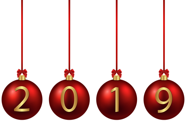 2019 Red Christmas Balls Png Image Happy New Year Png Red Christmas Christmas Balls
