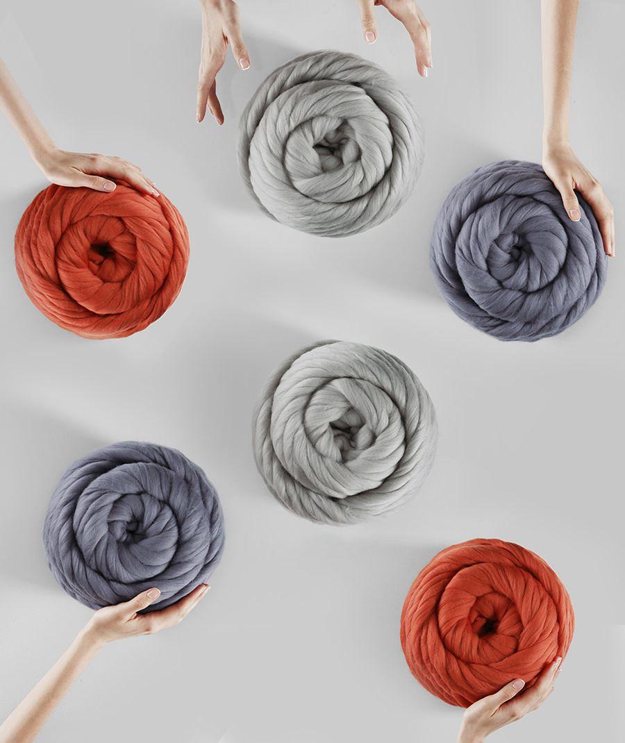 6 balls of Helix Yarn — 100% merino wool bulky yarn | Ohhio