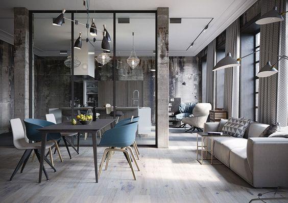 Arredamento Loft ~ Arredamento stile industriale per loft 26 industrial loft