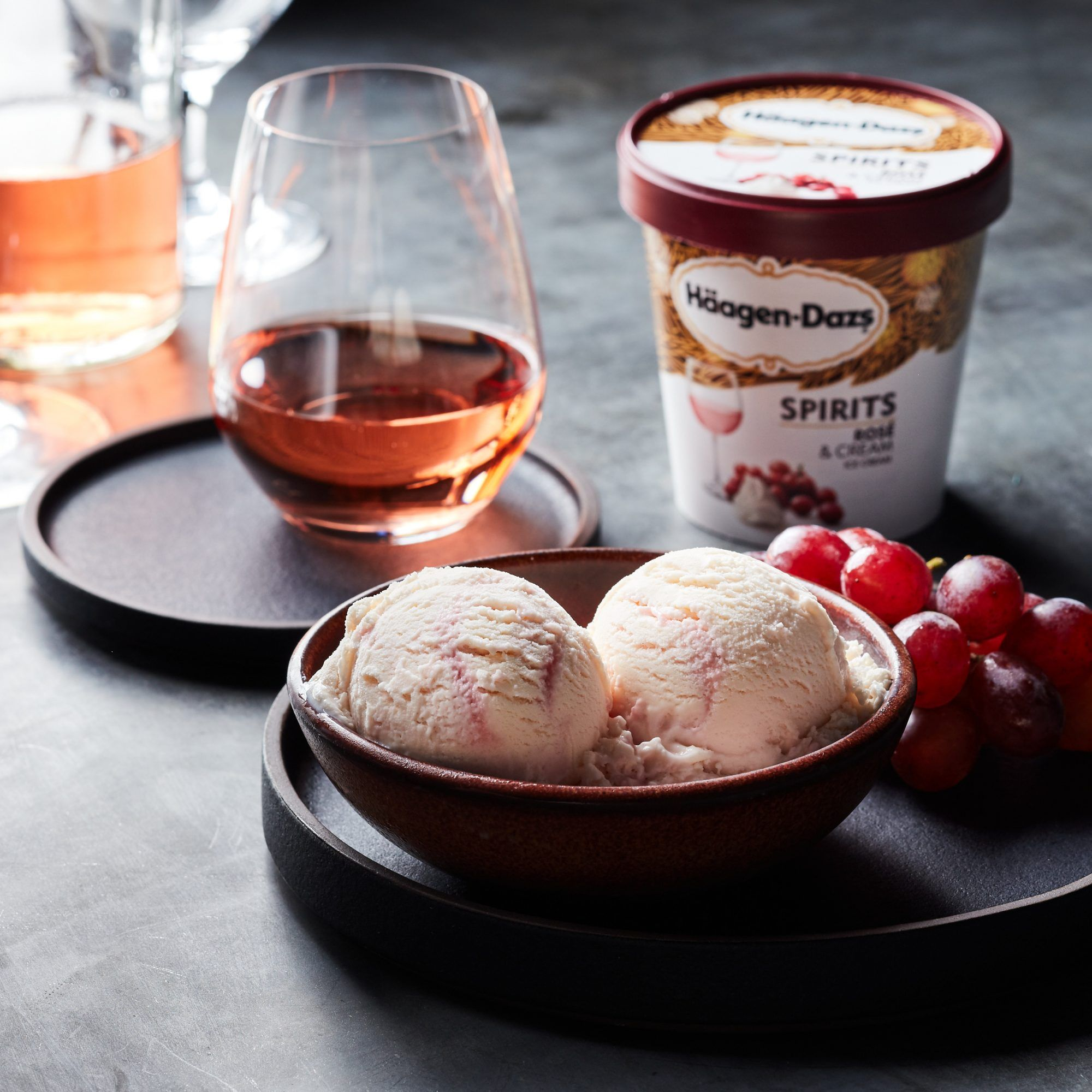 Photo of Häagen-Dazs Adds Rosé and Whiskey Flavors to Its Boozy Ice Cream Lineup