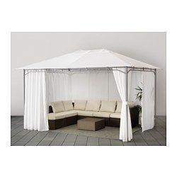 KARLSÖ Pavillon Mit Gardinen, Weiß   Weiß   300x400 Cm   IKEA