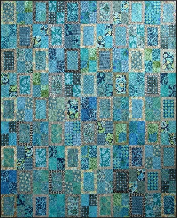 Rear Window Batik Quilt Kit. Pattern by Amy Walsh for Blue ... : blue quilts pinterest - Adamdwight.com