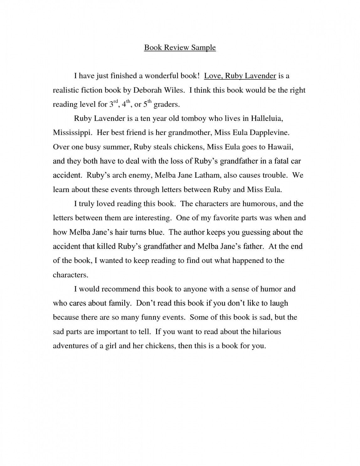 Sample Of Book Report Editable Writing A Example Review Essay Templates