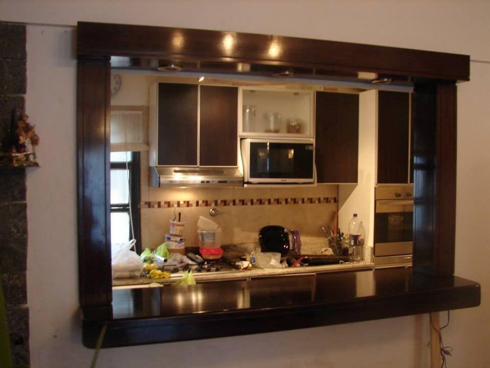 Desayunador en madera buscar con google ideas en casa for Modelos de cocinas pequenas con desayunador