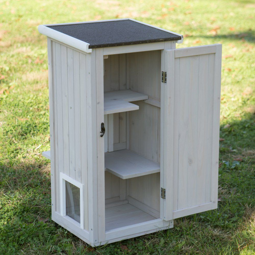 Canadian Woodworking Magazine Cat house diy, Outdoor cat