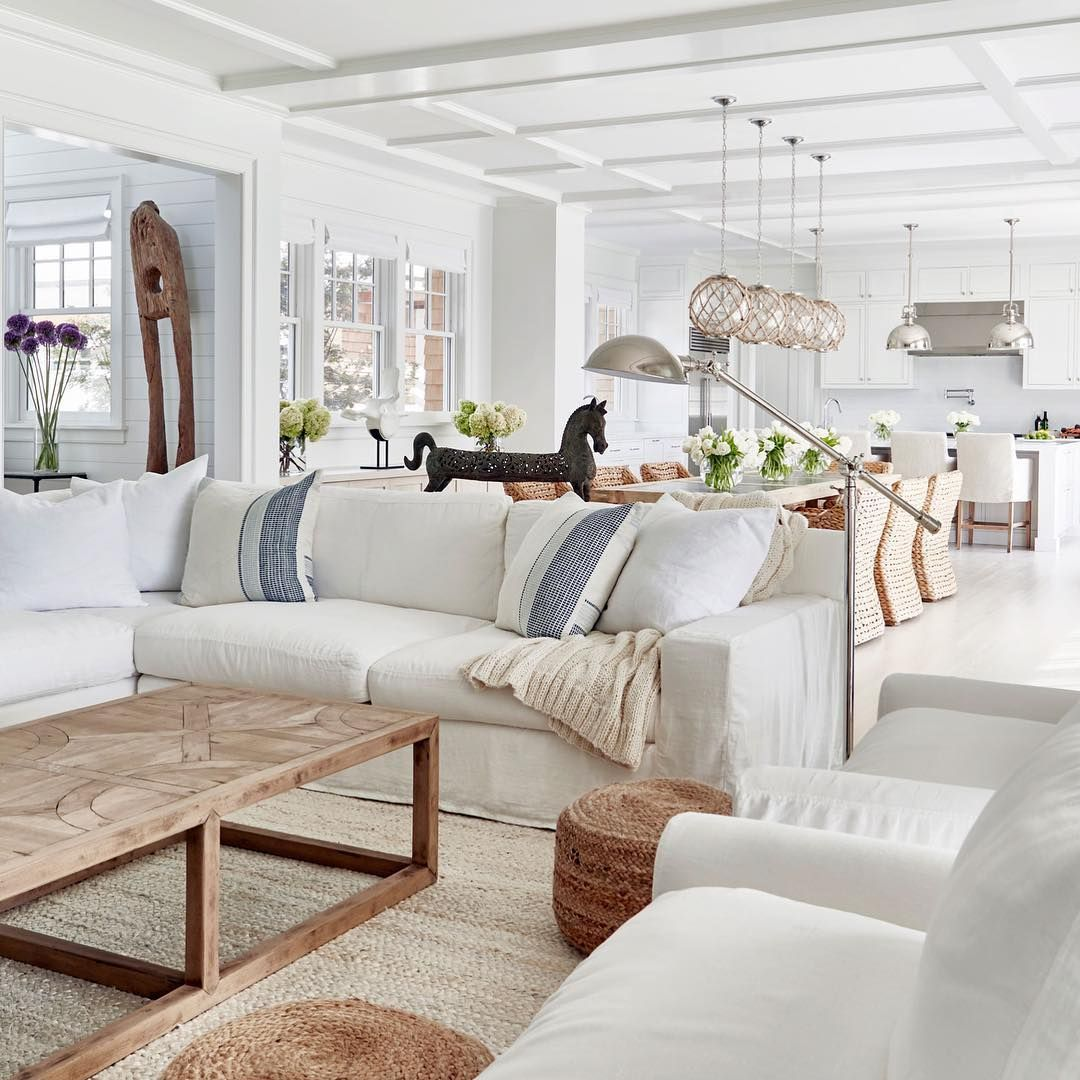 little too beachy but this is very similar to the feel I'd like our house to have. Love the big, simple art/decor pieces.