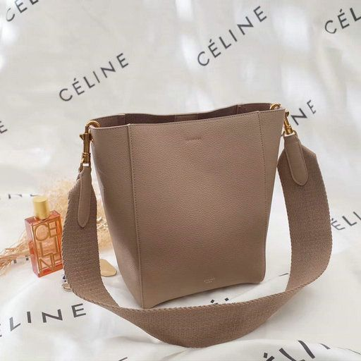 90775a93c3c8 2017 Céline Small Seau Sangle Bag in soft grained calfskin