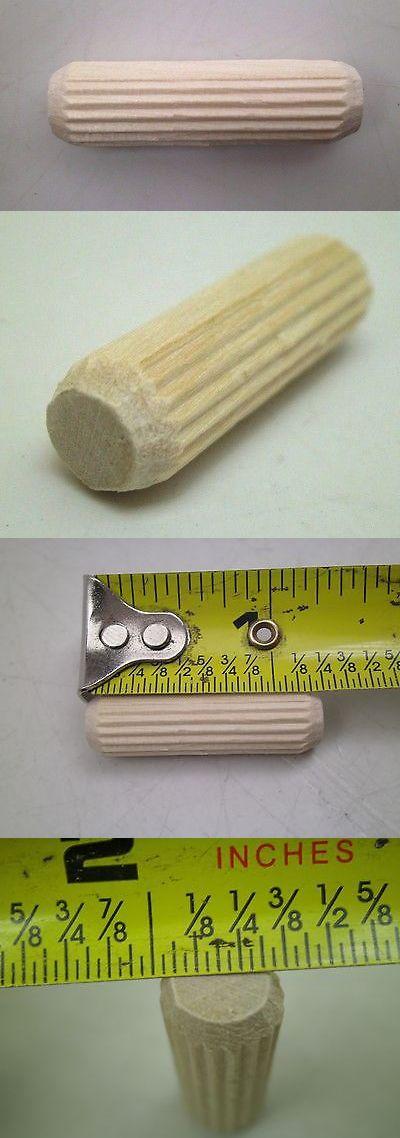 500 Pcs 3 8 X 1 1 4 Straight Grooved Wooden Dowel Pin Hardwood Nc Free Ship Ebay Dowels Wooden Free