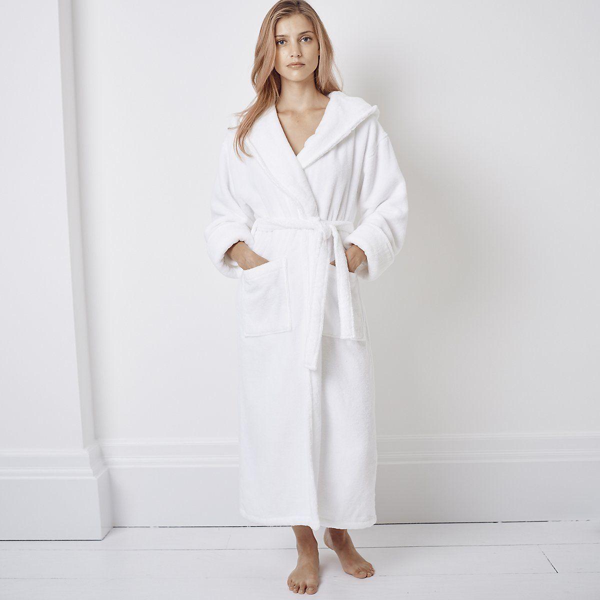 Hooded Hydrocotton Robe   Nightwear   Clothing   The White Company UK