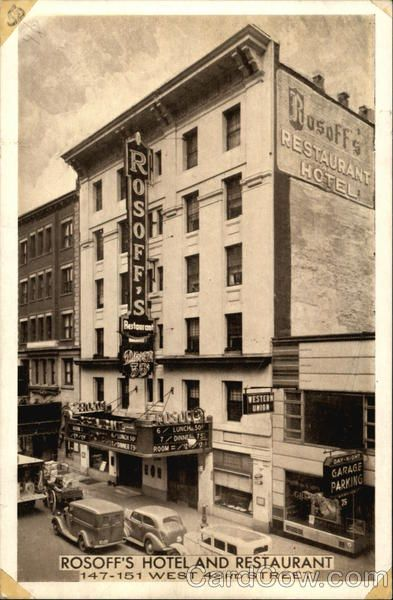 Rosoff S Restaurant And Hotel New York City Girl Boy
