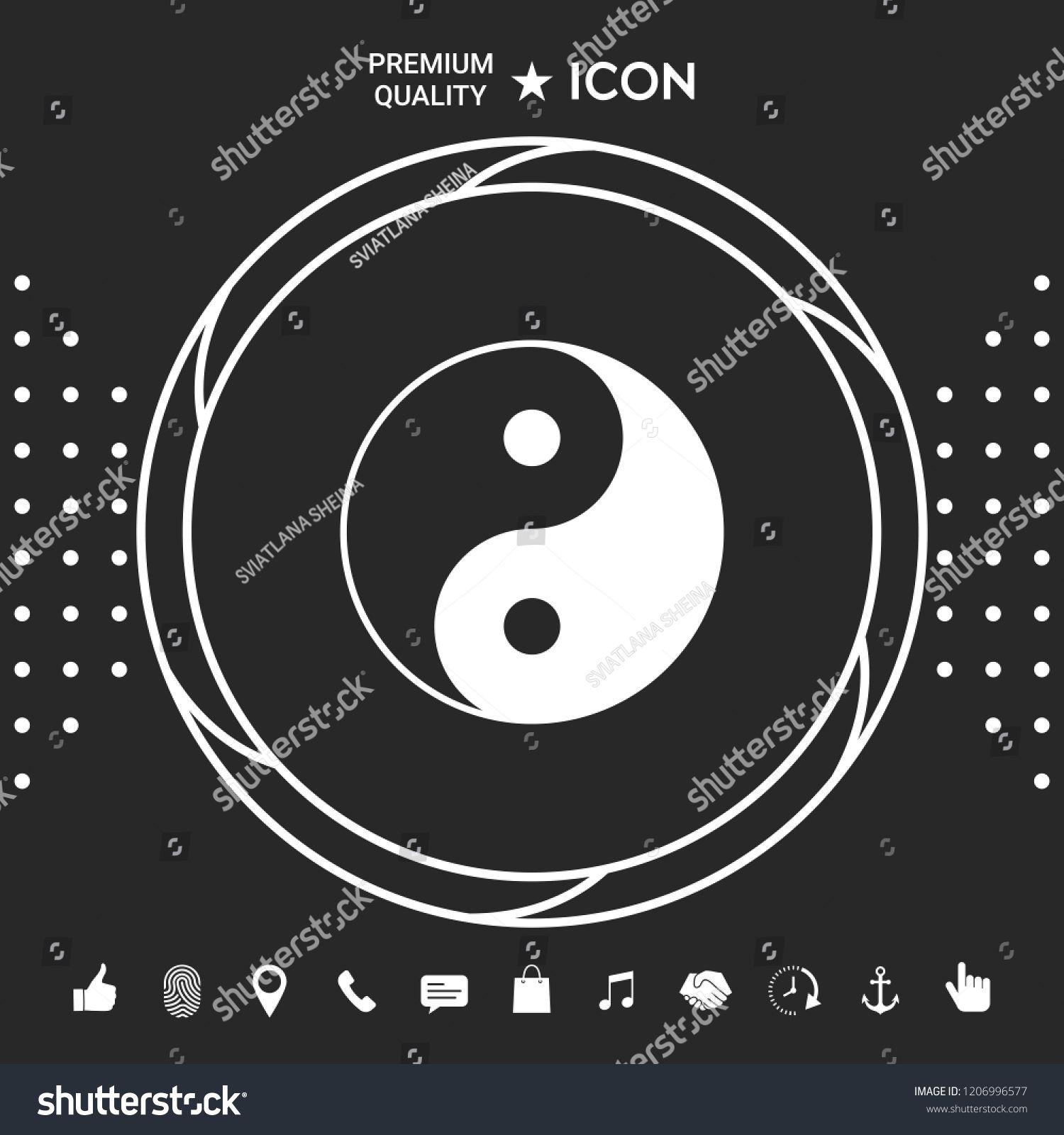 Yin yang symbol of harmony and balance yangYinsymbol