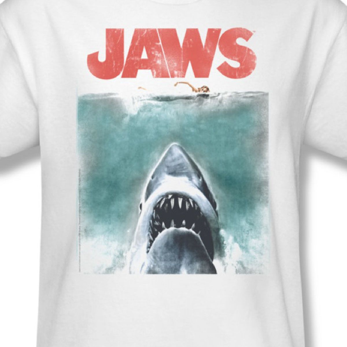 Jaws Poster Adult Tank Top