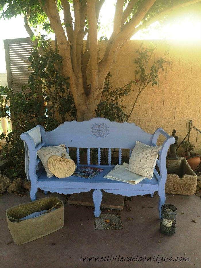 12-banco-de-exterior-decape-lavanda | muebles vintage | Pinterest ...