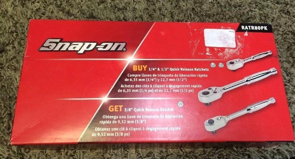 Snap On Ratchet Set Rat80pk Ratchet Snaps Garage Tools