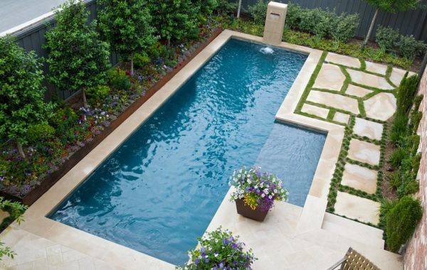 Spruce Up Your Small Backyard With A Swimming Pool 19 Design Ideas Pool Landscaping Small Pool Design Small Backyard Pools