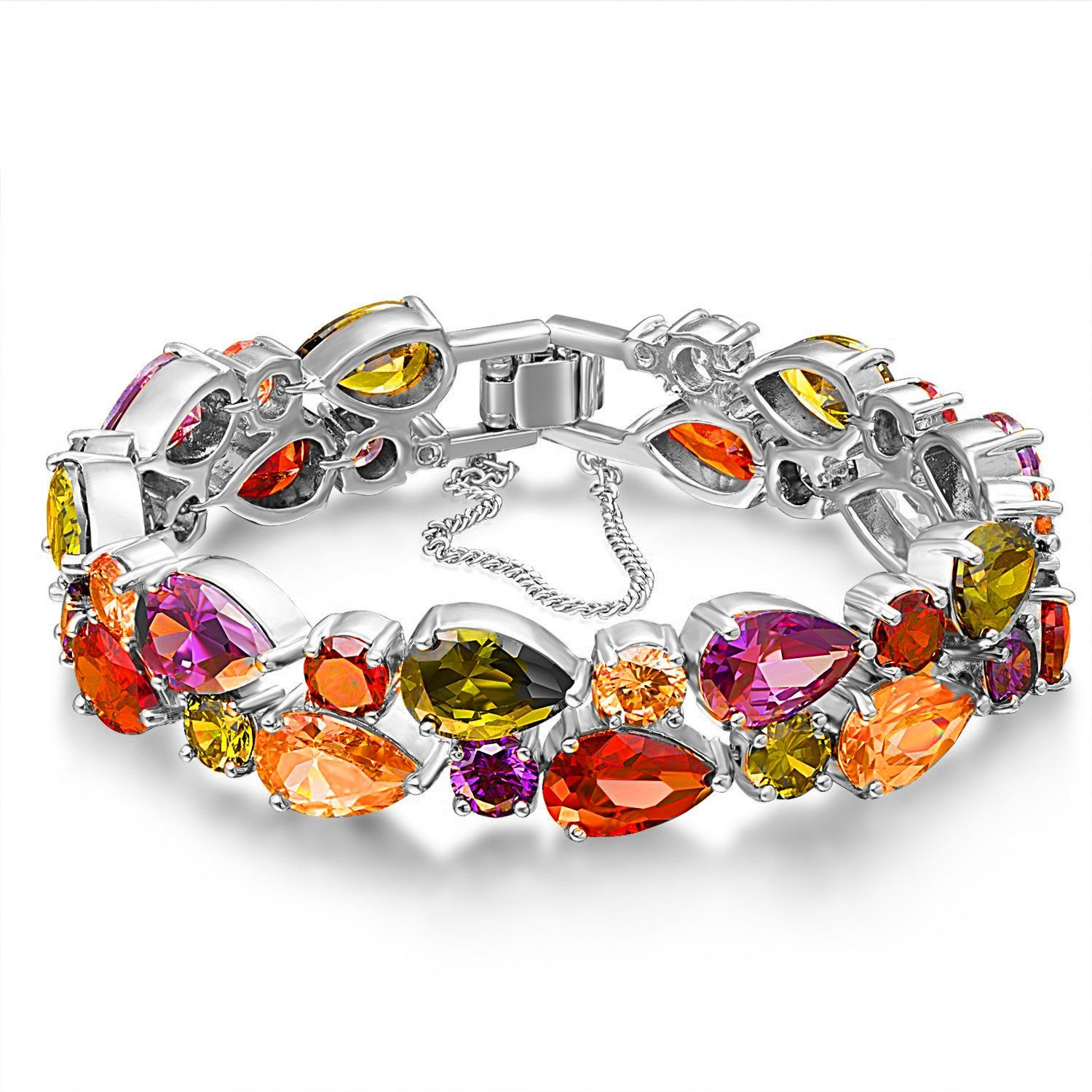 Austrian crystal bracelet womens roseate noble jewelry k white
