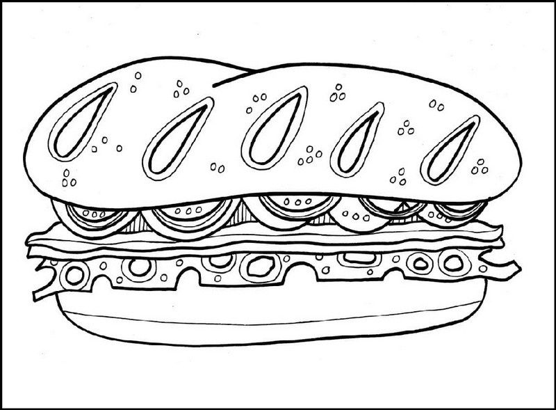 Favorite Sandwich Coloring Page Food Coloring Pages Coloring Pages Food Coloring