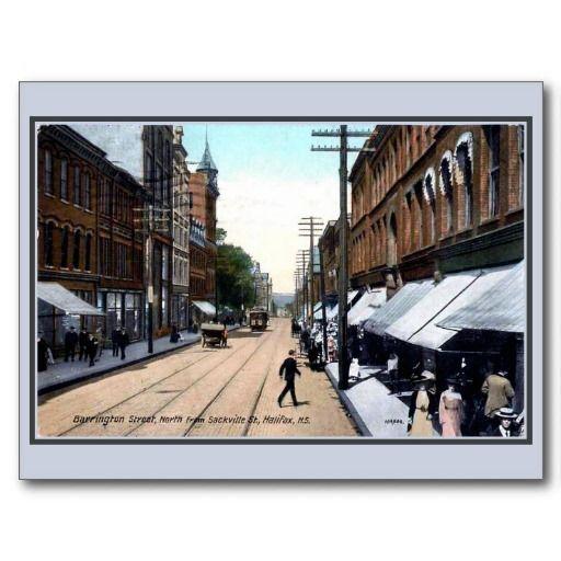 Vintage 1890s Barrington Street Halifax Ns Postcard Zazzle Com In 2020 Halifax Postcard Barrington