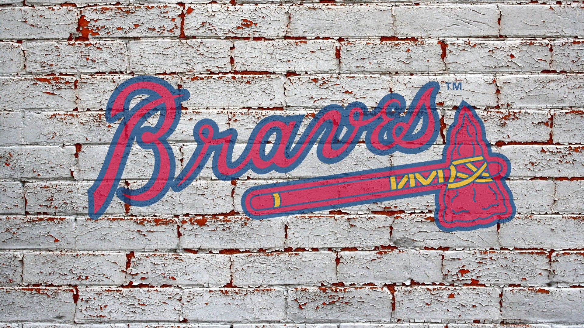 Atlanta Braves Brick Wall Backgrounds Atlanta Braves Hd