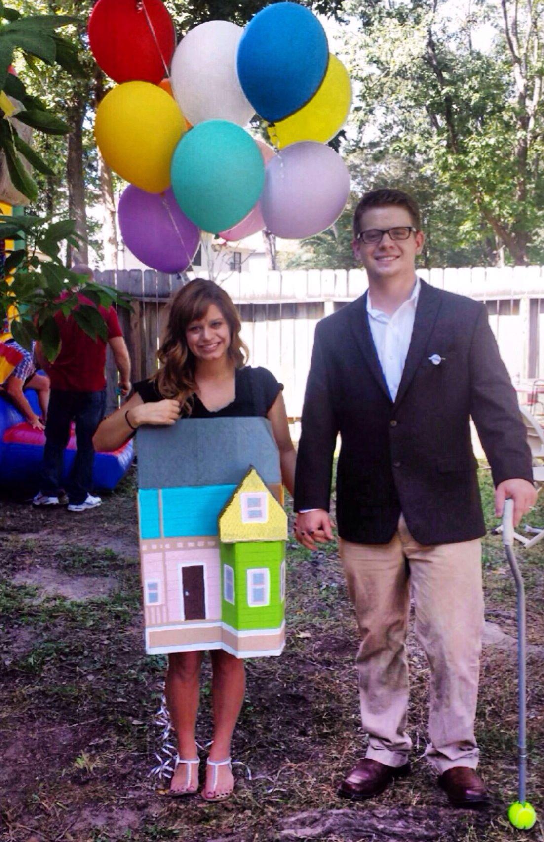DIY costume Disney up house Halloween Carl Fredricksen