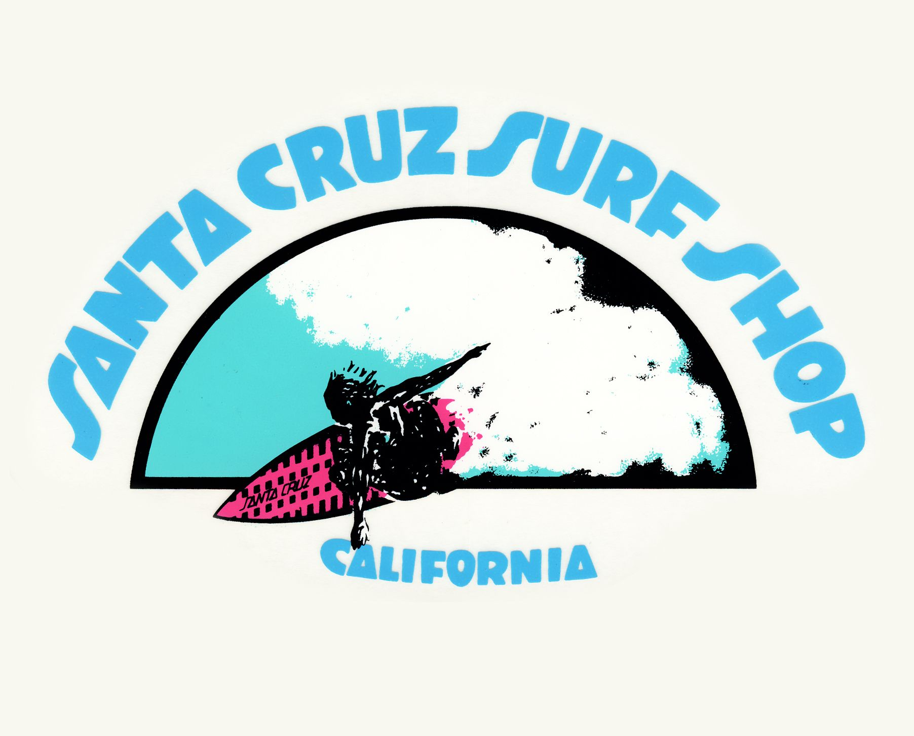 Santa Cruz Surf Shop half dome logo design typography by ...