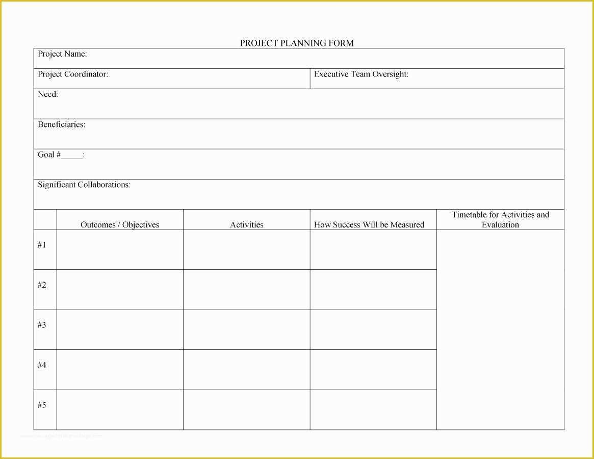 Free Project Plan Template Of 48 Professional Project Plan