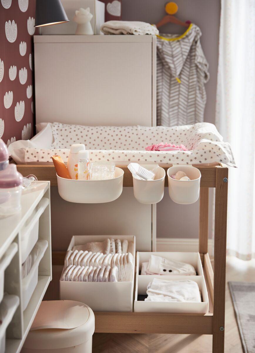 Rassla Box With Compartments White Ikea Switzerland Baby