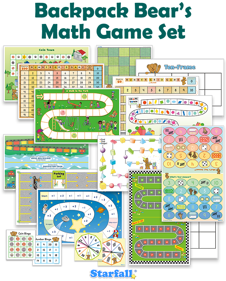 12 different Math Games for Kindergarten, plus more! Only