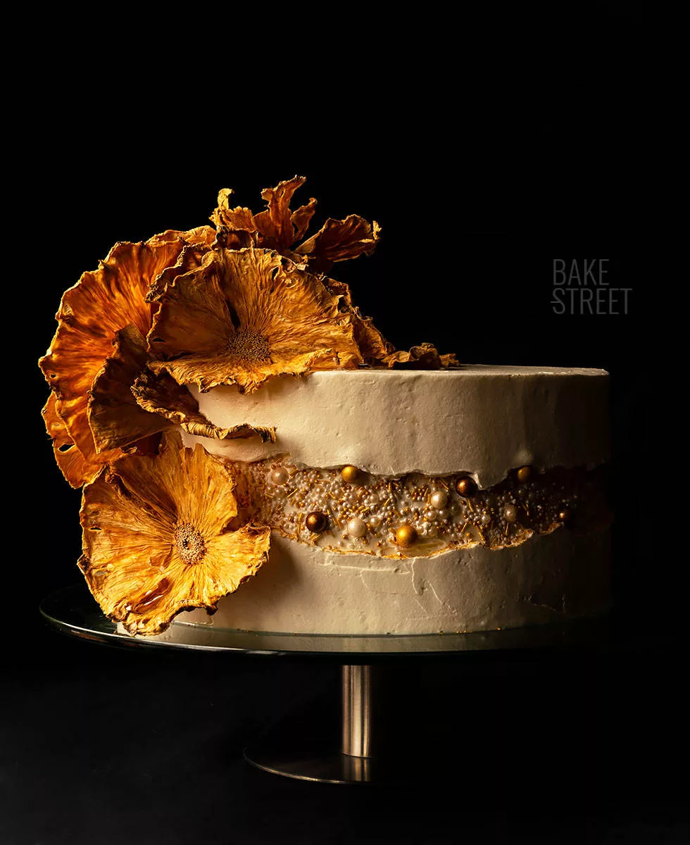 Photo of Pineapple and Coconut Cake – Fault Line Cake – Bake-Street.com