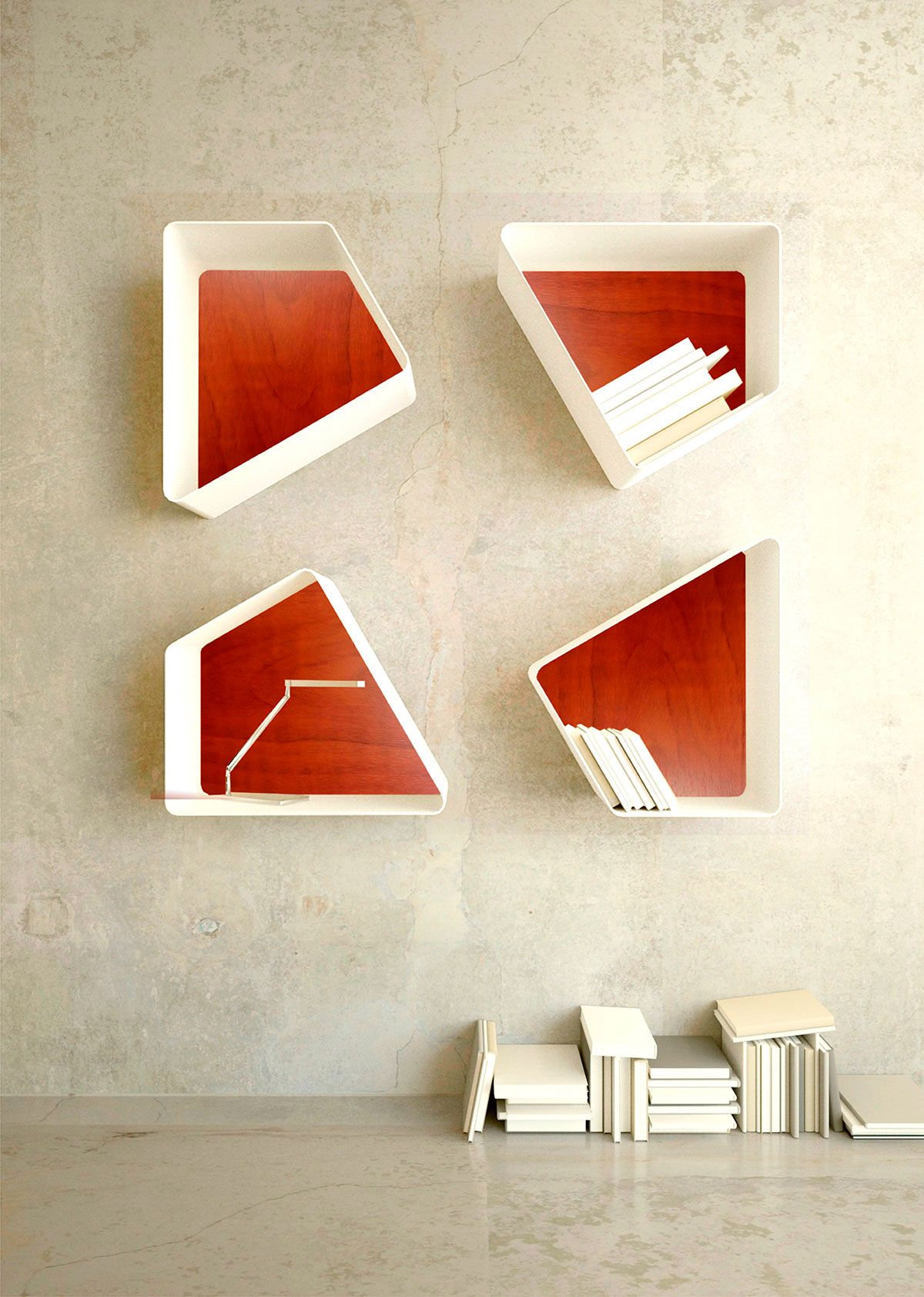 Estanteria libreria modular dise o interiores muebles for Diseno de muebles de madera modernos