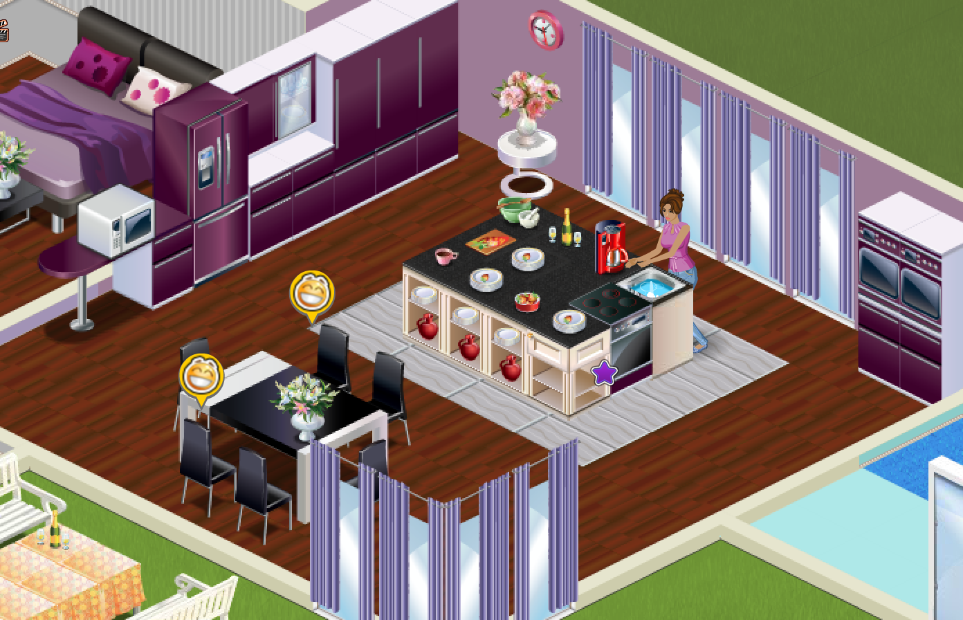 Are you lucky to have a big kitchen here 39 s an idea how to for Kitchen decoration games