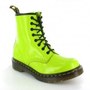 Neon Green Doc Martens Them Dr Martens Boots Womens Leather Ankle Boots Boots