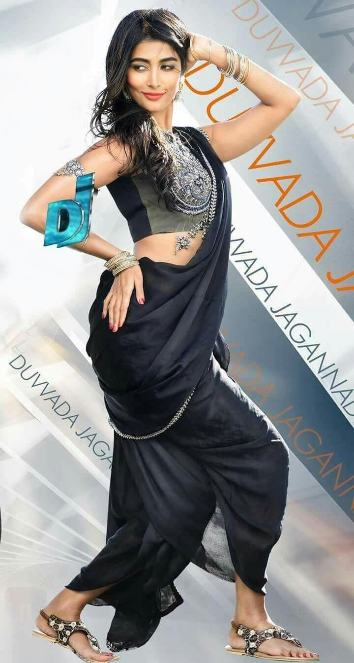 Blackpooja hegde kashta saree clothes for women