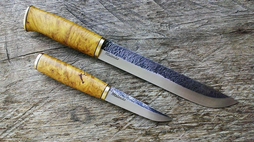 Puukko & leuku - malanika | handle shapes | Knife making