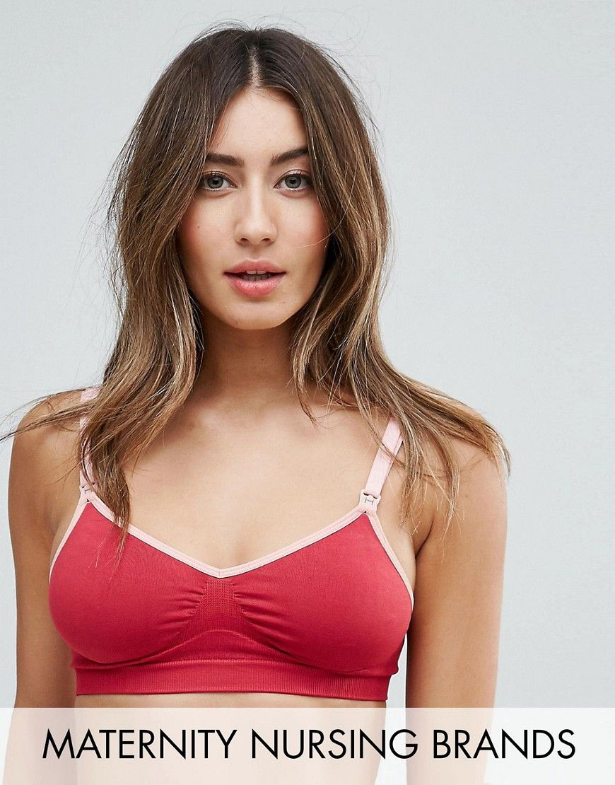 a683044ad8136 Charley M By Cake Lingerie Flourish Triangle Nursing Bra - Red ...