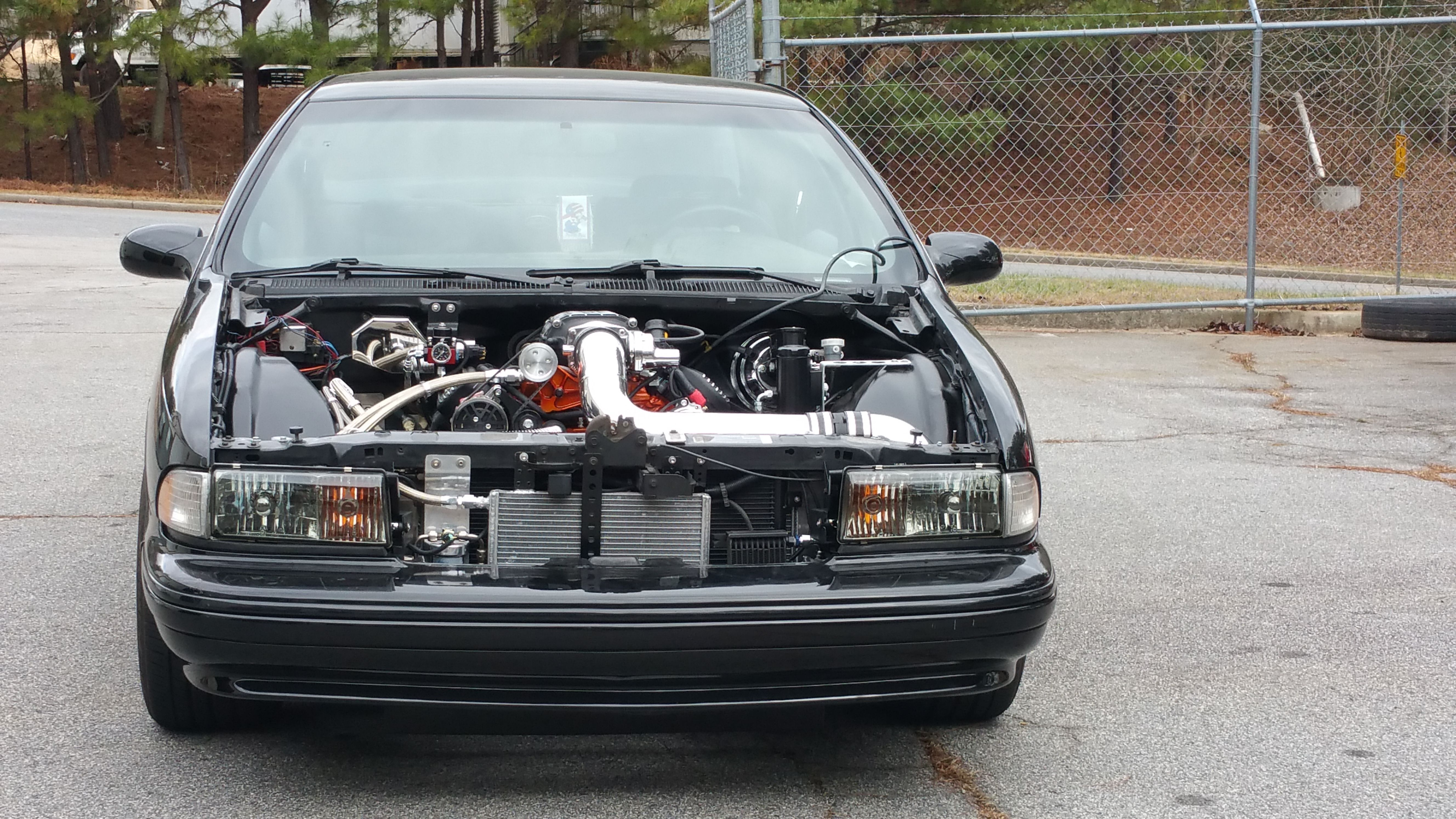 1996 impala ss with a 540ci big block chevy paired with a set of 91mm turbos ch