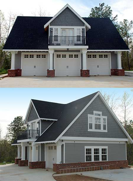 40 Best Detached Garage Model For Your Wonderful House Carriage House Plans Garage Plans With Loft House Plans