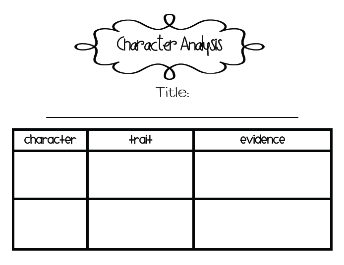 SarahS First Grade Snippets Character Analysis  St Grade